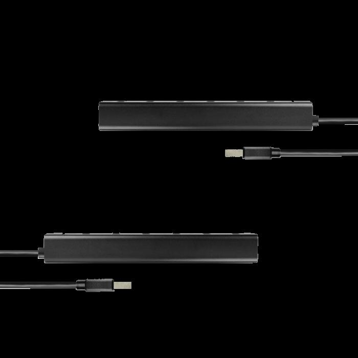 7x USB3.0 ALU Charging Hub Incl. AC Adapter, Black [14]