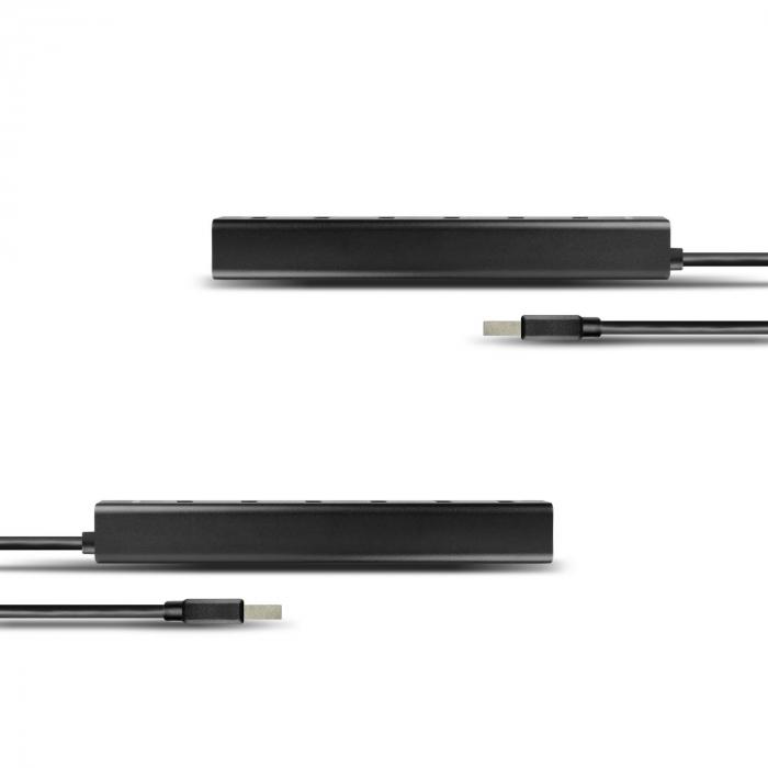 7x USB3.0 ALU Charging Hub Incl. AC Adapter, Black [4]