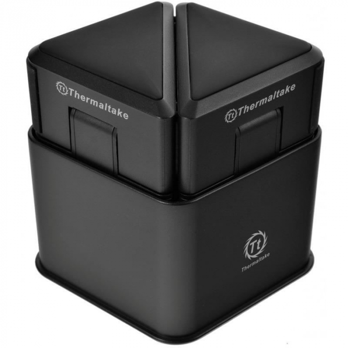 Cooler laptop Thermaltake Satellite 2-in-1 cooler cu boxe negru 4