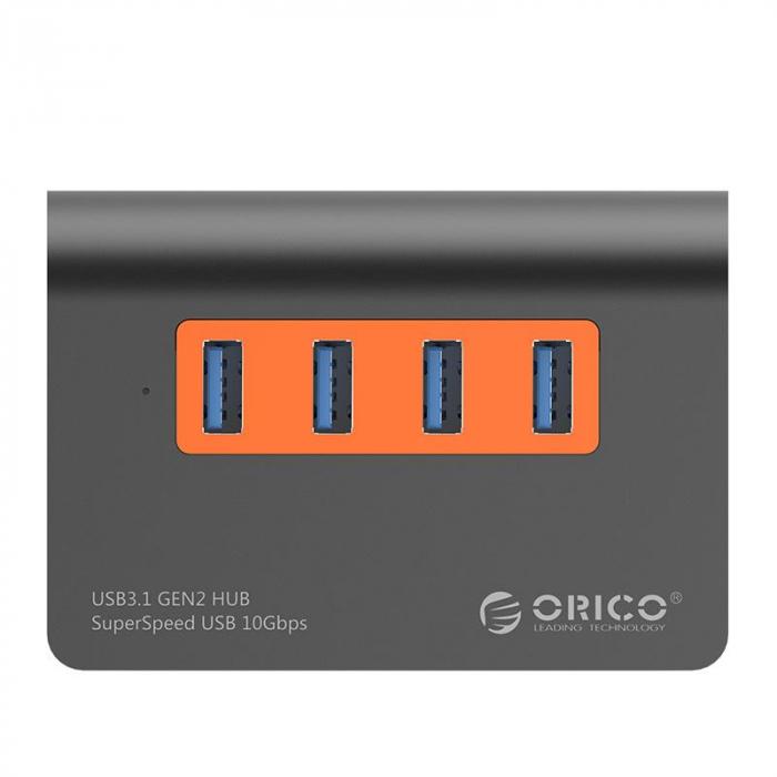 Hub USB Orico M3H4-G2 USB 3.1 Orange 1