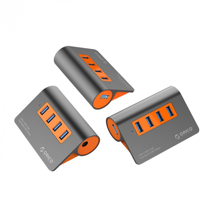 Hub USB Orico M3H4-G2 USB 3.1 Orange 2