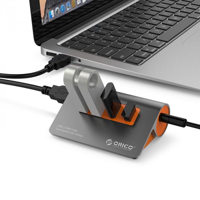 Hub USB Orico M3H4-G2 USB 3.1 Orange 4