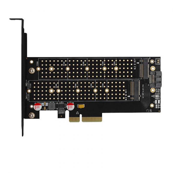 Adaptor PCI-Express 3.0 x4 la dual M.2 SSD, Active cooler [16]