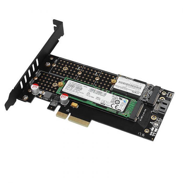 Adaptor PCI-Express 3.0 x4 la dual M.2 SSD, Active cooler [20]