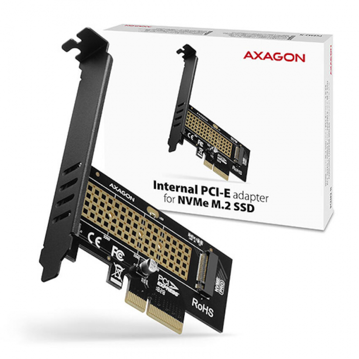 Adaptor PCI-Express x4 intern pentru conectarea SSD NVMe M.2 la PC [4]