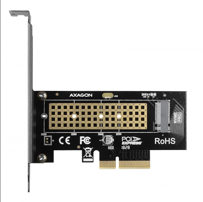 Adaptor PCI-Express x4 intern pentru conectarea SSD NVMe M.2 la PC [1]