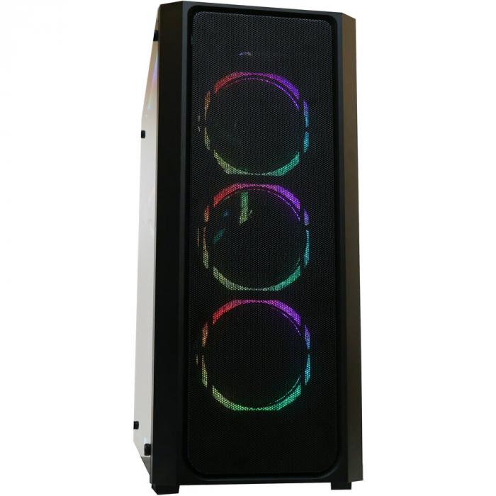 Sistem Gaming Apache, AMD RYZEN 5 5600X 4.6Ghz, 16GB DDR4, SSD 3TB, GeForce RTX 3070 TI 8GB, iluminare RGB 9
