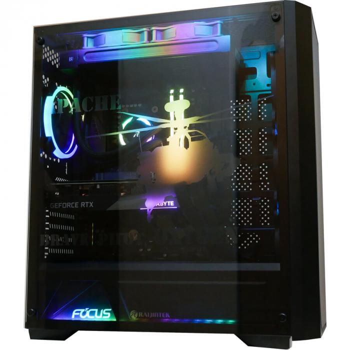 Sistem Gaming Apache, AMD RYZEN 5 5600X 4.6Ghz, 16GB DDR4, SSD 3TB, GeForce RTX 3070 TI 8GB, iluminare RGB 11