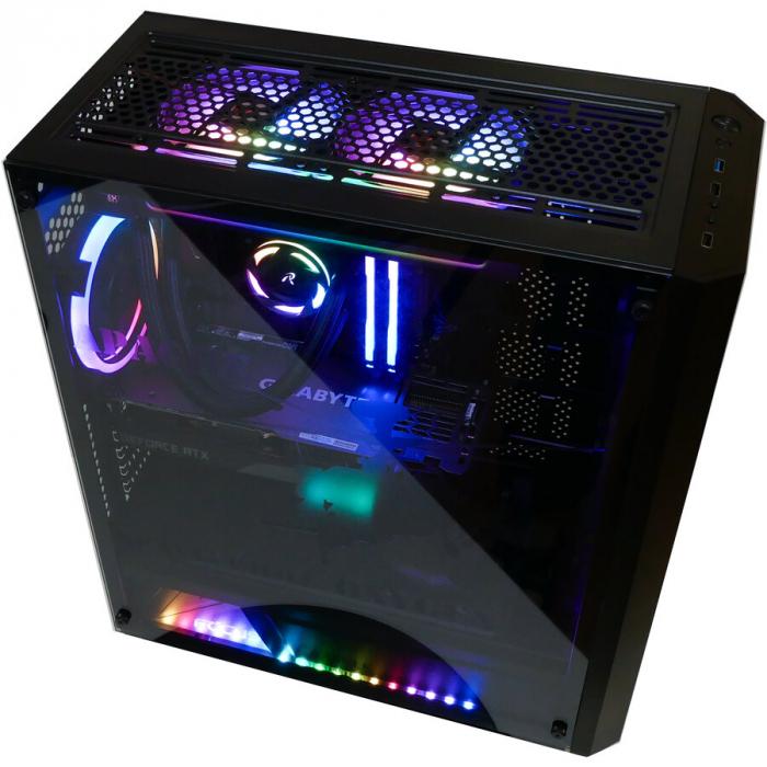 Sistem Gaming Apache, AMD RYZEN 5 5600X 4.6Ghz, 16GB DDR4, SSD 3TB, GeForce RTX 3070 TI 8GB, iluminare RGB 4