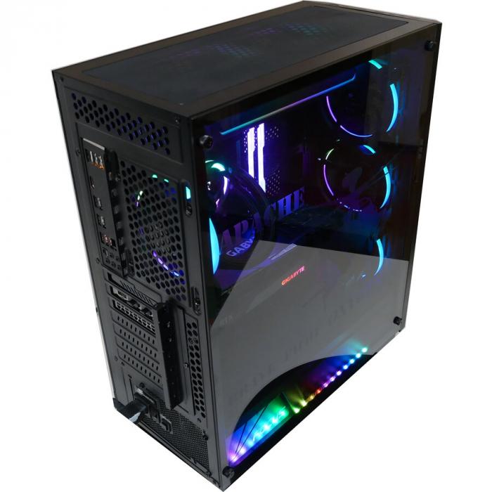 Sistem Gaming Apache, AMD RYZEN 5 5600X 4.6Ghz, 16GB DDR4, SSD 3TB, GeForce RTX 3070 TI 8GB, iluminare RGB 7