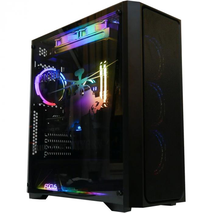 Sistem Gaming Apache, AMD RYZEN 5 5600X 4.6Ghz, 16GB DDR4, SSD 3TB, GeForce RTX 3070 TI 8GB, iluminare RGB 8