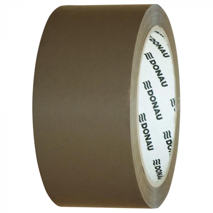 Banda adeziva 48mm x 66 m, 46 microni, pe baza de solvent, DONAU - maro 0