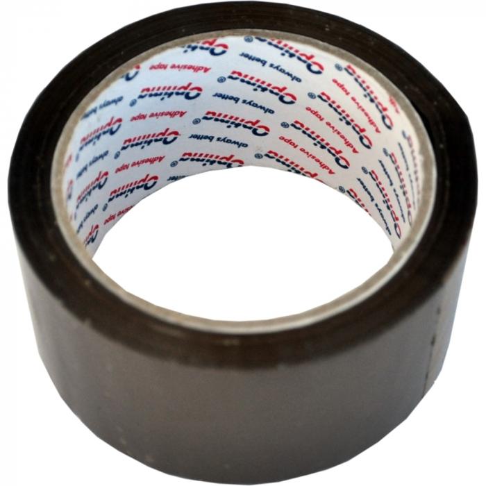 Banda adeziva 72mm x 66 y, 38 microni, Optima - maro 0