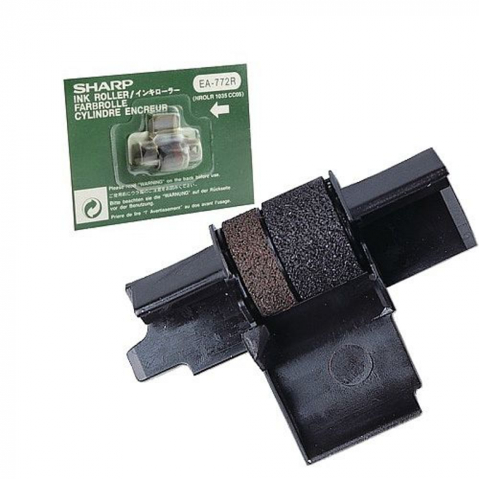 Banda cu cerneala, pentru calculator cu banda SHARP EL-1750V - negru/rosu 0