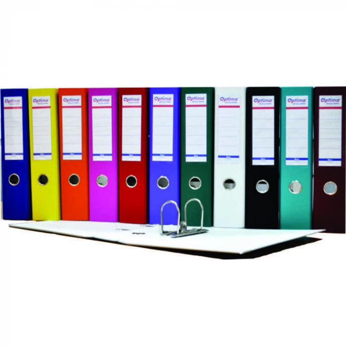 Biblioraft A4, ext. PP/int.paper, baza metalica, Optima Basic [0]