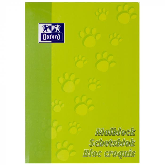 Blocnotes A4, OXFORD, 100 file - 90g/mp, pentru desenat - velin 0