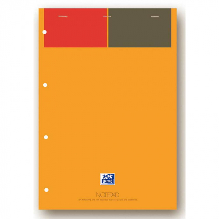 Blocnotes A4+, OXFORD Int., 80 file-90g/mp, Scribzee, 4 perforatii, coperta carton - dictando 0