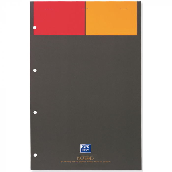 Blocnotes A4+, OXFORD Int., 80 file-90g/mp, Scribzee, 4 perforatii, coperta carton - matematica 0