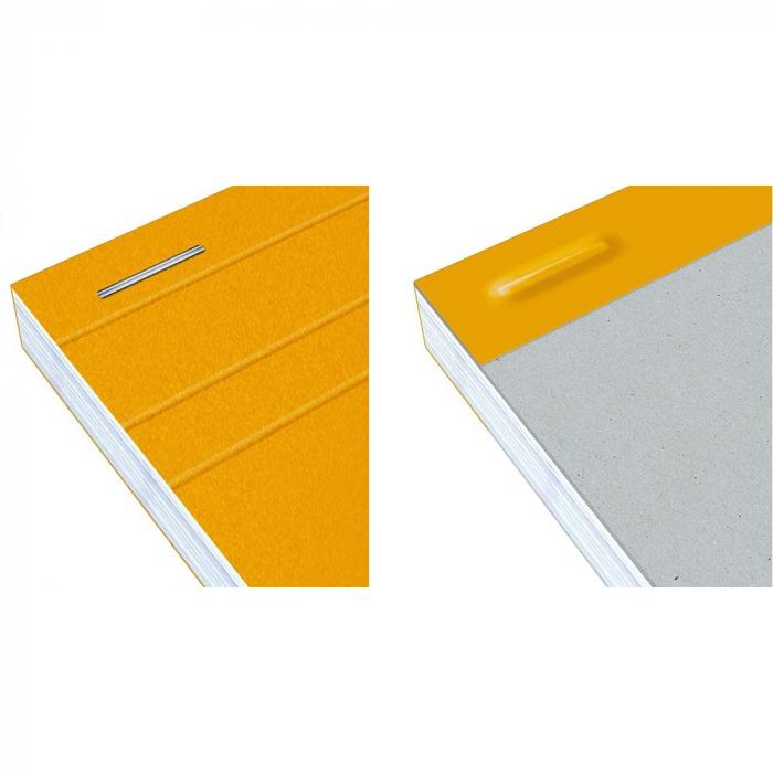 Blocnotes A4+, OXFORD Orange, 80 file galbene - 80g/mp, Scribzee, 4 perf, coperta carton - dictando 3