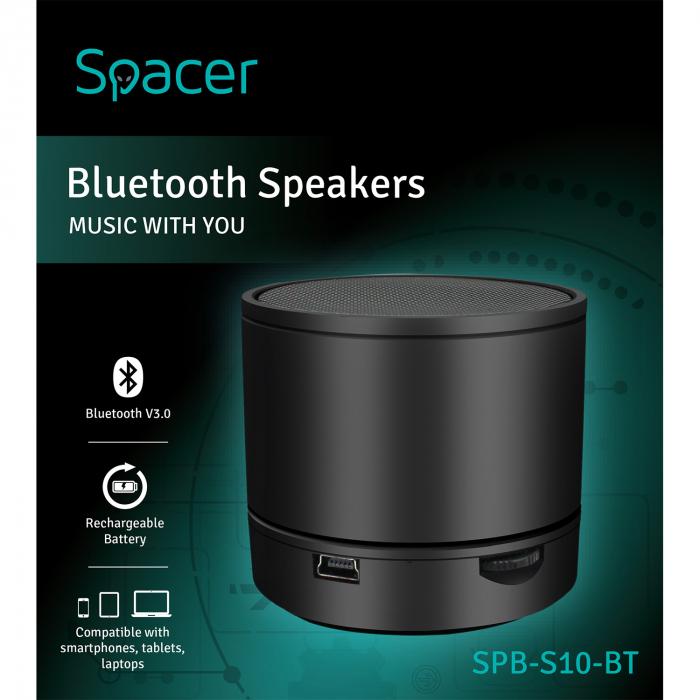 Boxa portabila Spacer Bluetooth S10 Neagra [2]