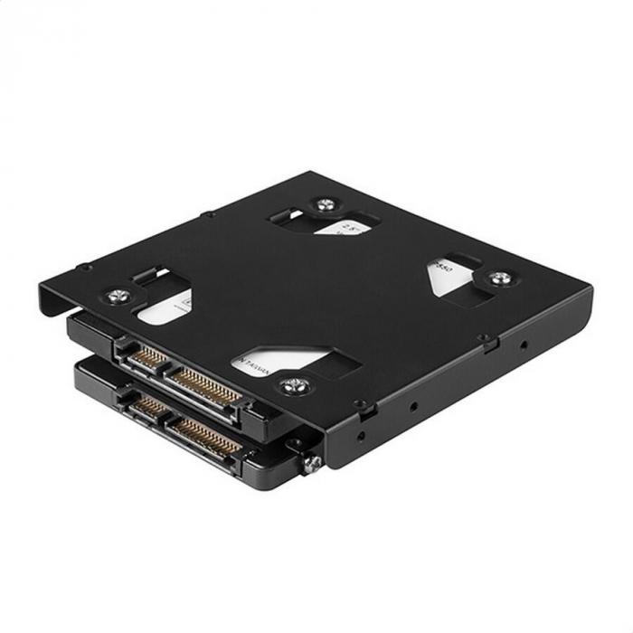 Bracket 2x 2.5 Inch HDD/SSD la 3.5 Inch, Aluminiu [8]