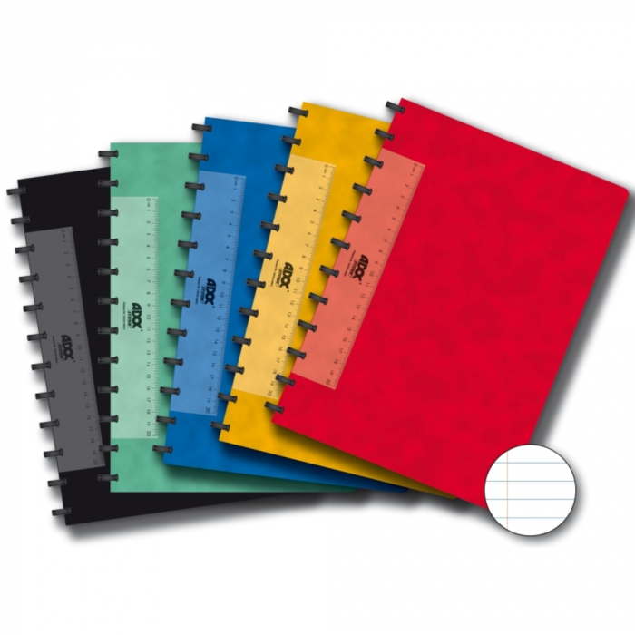 Caiet A4, 72 file - 90g/mp, coperta carton color embosat, AURORA Adoc - dictando 0