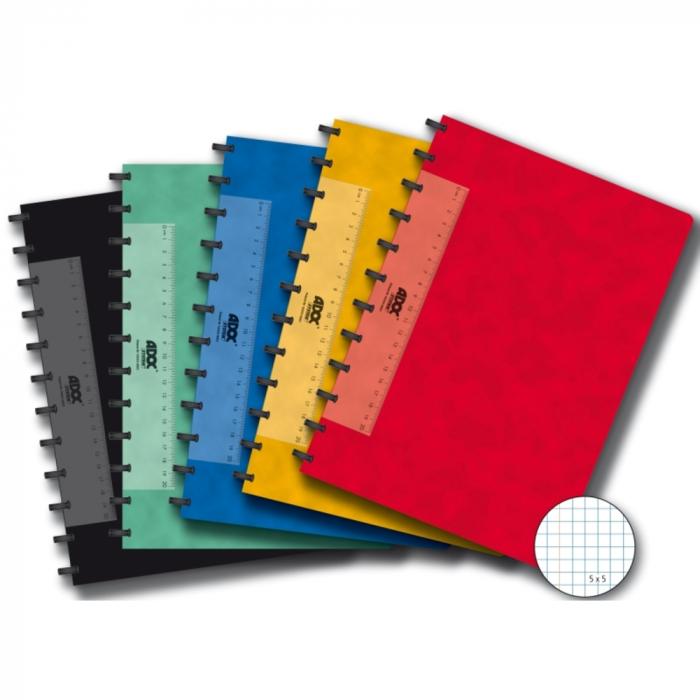 Caiet A4, 72 file - 90g/mp, coperta carton color embosat, AURORA Adoc - matematica 0