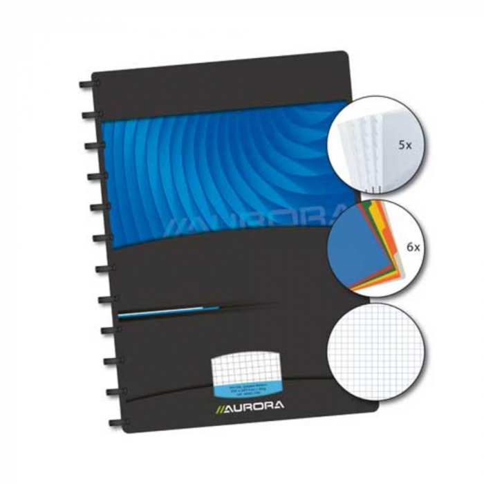 Caiet A4, 72 file - 90g/mp, coperta PP Mano, cu separatoare, AURORA Adoc - matematica [0]