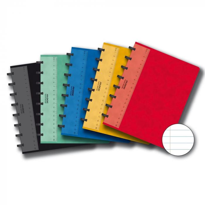 Caiet A5, 72 file - 90g/mp, coperta carton color embosat, AURORA Adoc - dictando 0