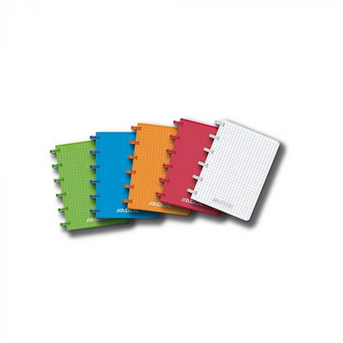 Caiet A6, 72 file - 90g/mp, coperta PP transparent color, AURORA Adoc - matematica 0