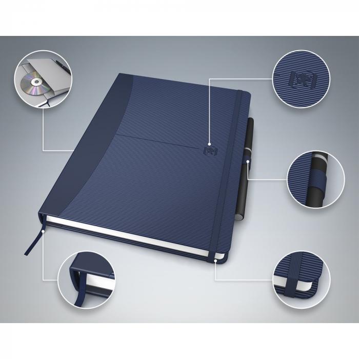 Caiet cu elastic, A5, OXFORD Signature, 80 file - 90g/mp, Scribzee, mate - culori clasice [0]