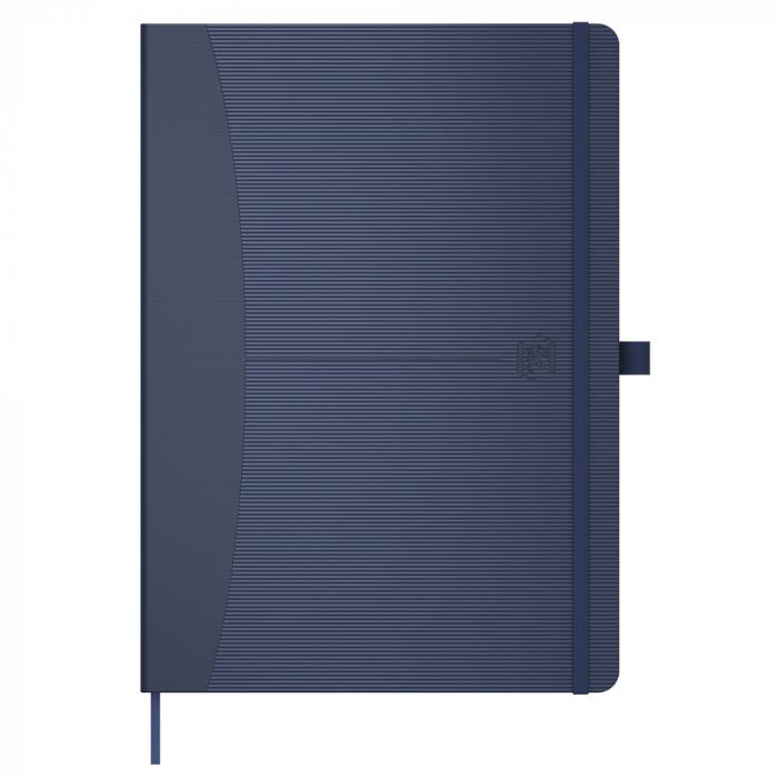 Caiet cu elastic, A5, OXFORD Signature Touch, 80 file - 90g/mp, Scribzee, dictando - albastru 0