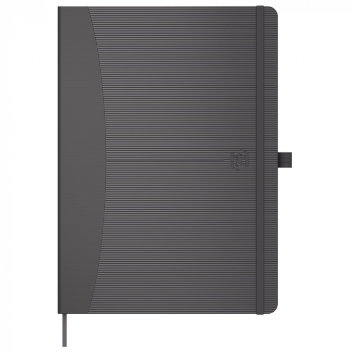 Caiet cu elastic, A5, OXFORD Signature Touch, 80 file - 90g/mp, Scribzee, dictando - gri [0]