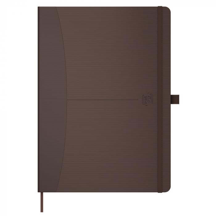 Caiet cu elastic, A5, OXFORD Signature Touch, 80 file - 90g/mp, Scribzee, dictando - maro [0]