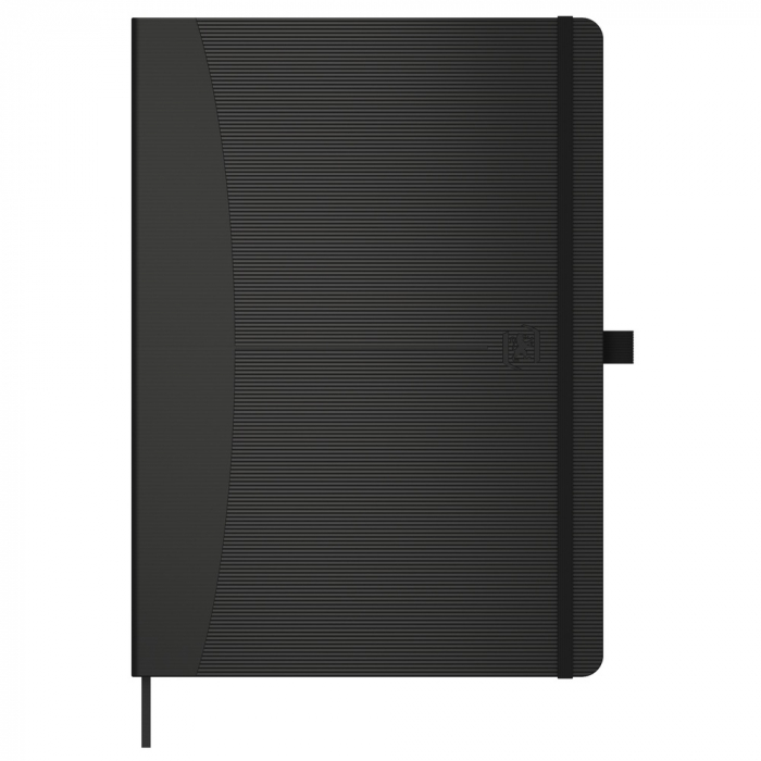 Caiet cu elastic, A5, OXFORD Signature Touch, 80 file - 90g/mp, Scribzee, dictando - negru [0]