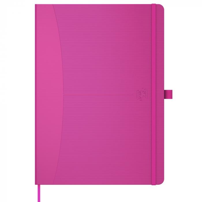 Caiet cu elastic, A5, OXFORD Signature Touch, 80 file - 90g/mp, Scribzee, mate - fucsia 0