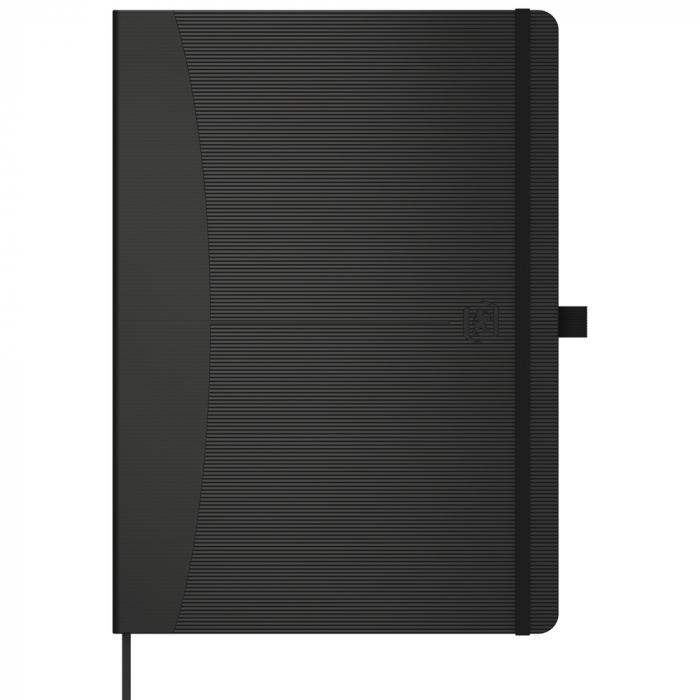 Caiet cu elastic, A5, OXFORD Signature Touch, 80 file - 90g/mp, Scribzee, punctat - negru [0]
