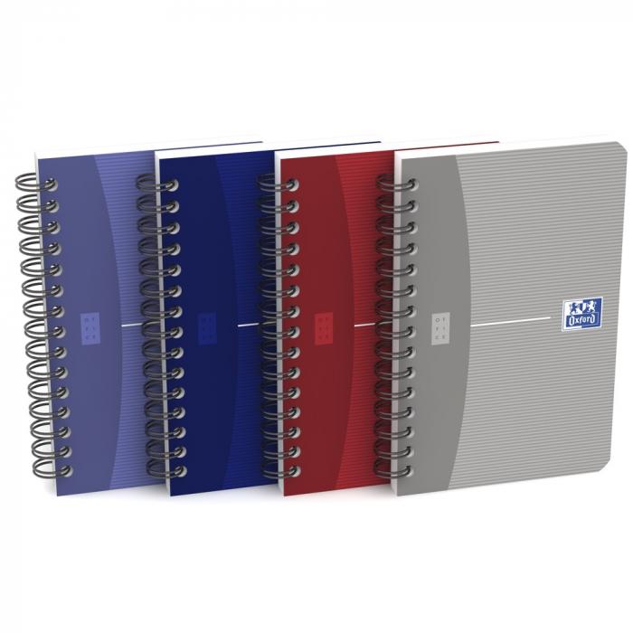 Caiet cu spirala 9 x 14cm, OXFORD Office Essentials, 90 file - 90g/mp, coperta carton - dictando [0]