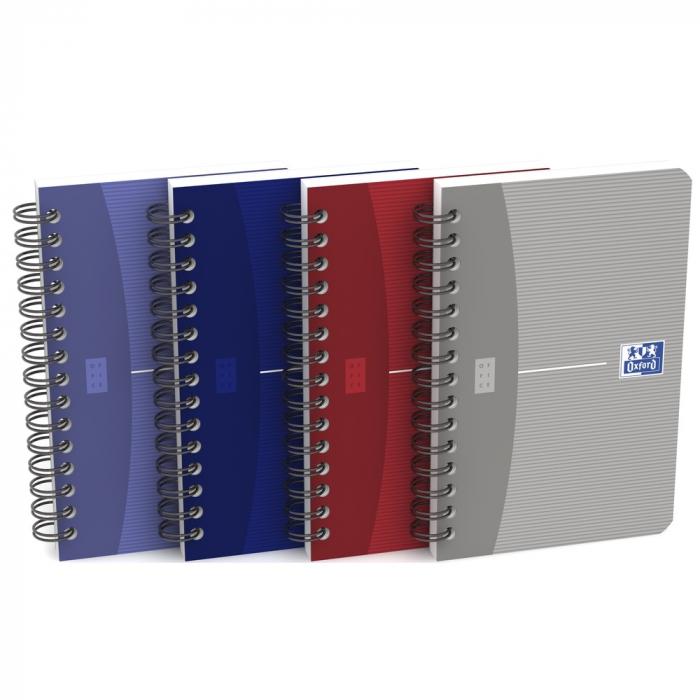 Caiet cu spirala 9 x 14cm, OXFORD Office Essentials, 90 file - 90g/mp, coperta carton - matematica [0]