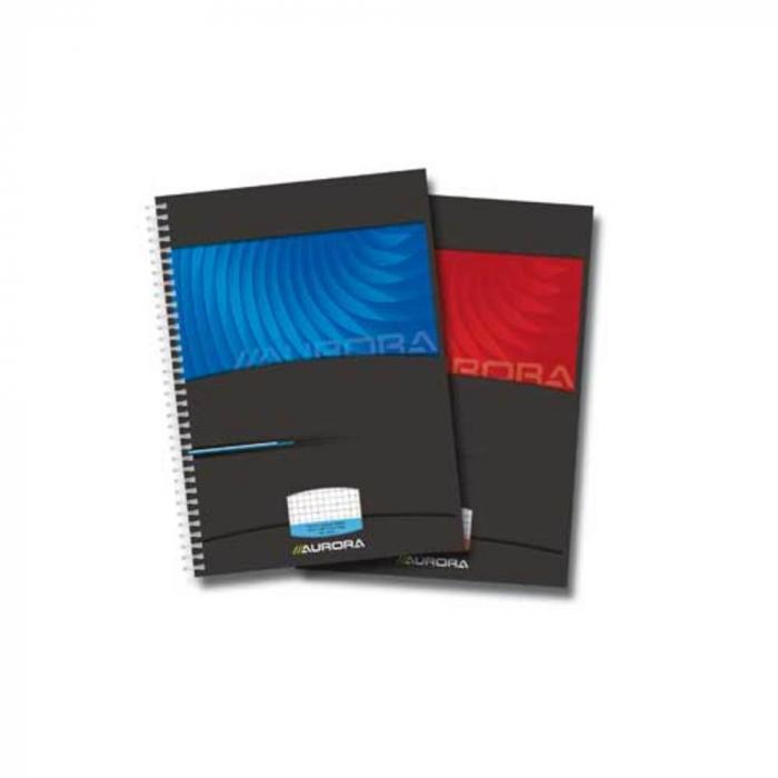 Caiet cu spirala, A4, 50 file - 90g/mp, coperti carton lucios, AURORA Mano - matematica 0