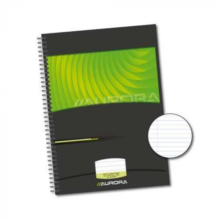 Caiet cu spirala, A4, 72 file - 90g/mp, coperti carton rigid, AURORA Mano - dictando [0]