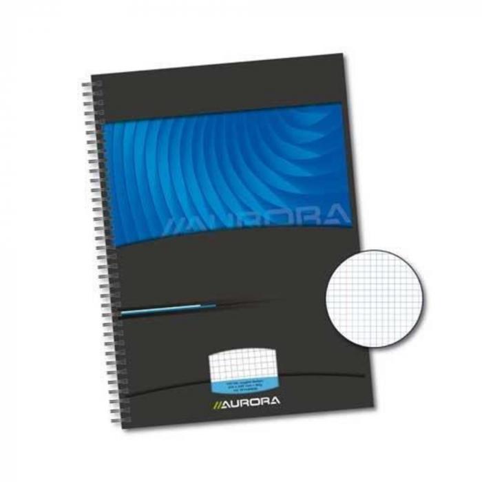 Caiet cu spirala, A4, 72 file - 90g/mp, coperti carton rigid, AURORA Mano - matematica [0]