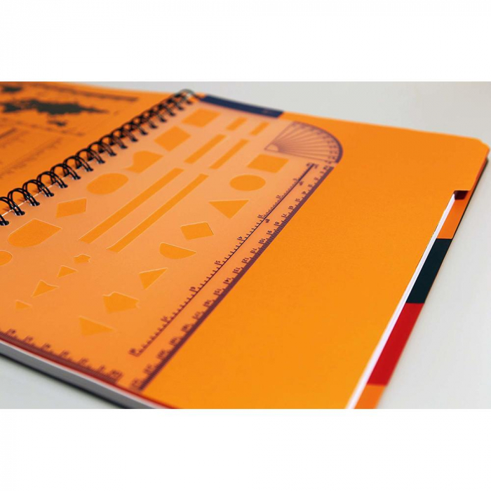 Caiet cu spirala A4+, OXFORD Int. Managerbook, 80 file-80g/mp, Scribzee, 4 perf, coperta PP-dictando [2]