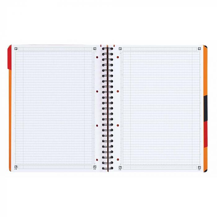 Caiet cu spirala A4+, OXFORD Int. Managerbook, 80 file-80g/mp, Scribzee, 4 perf, coperta PP-dictando [1]