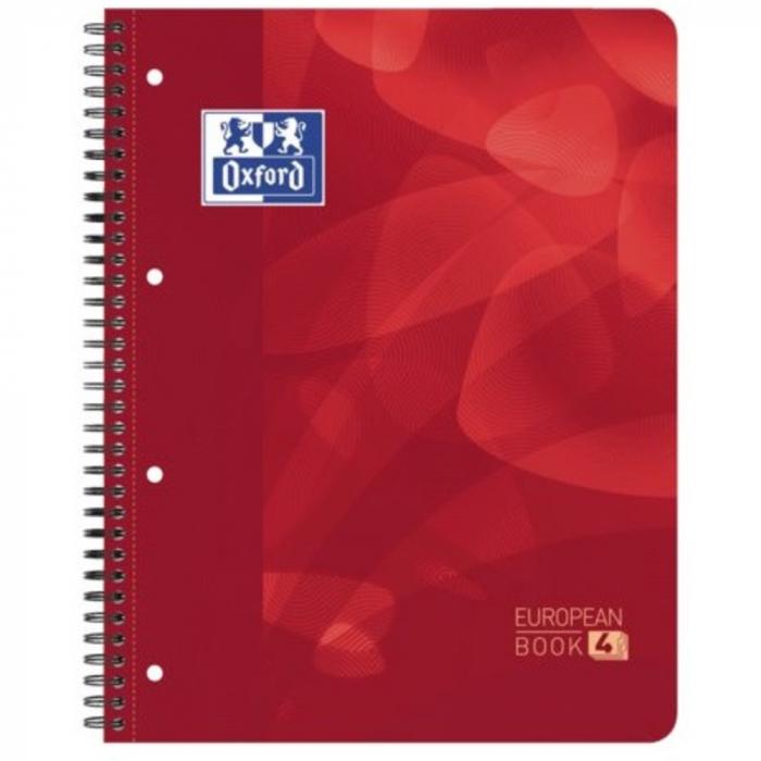 Caiet cu spirala A4+, OXFORD School Projectbook, 4cul x30 file-90g/mp, Scribzee, coperta PP-mate [0]