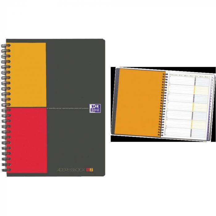 Caiet cu spirala A5, OXFORD Int. Addressbook, 72 file - 80g/mp, coperta PP - dictando [0]