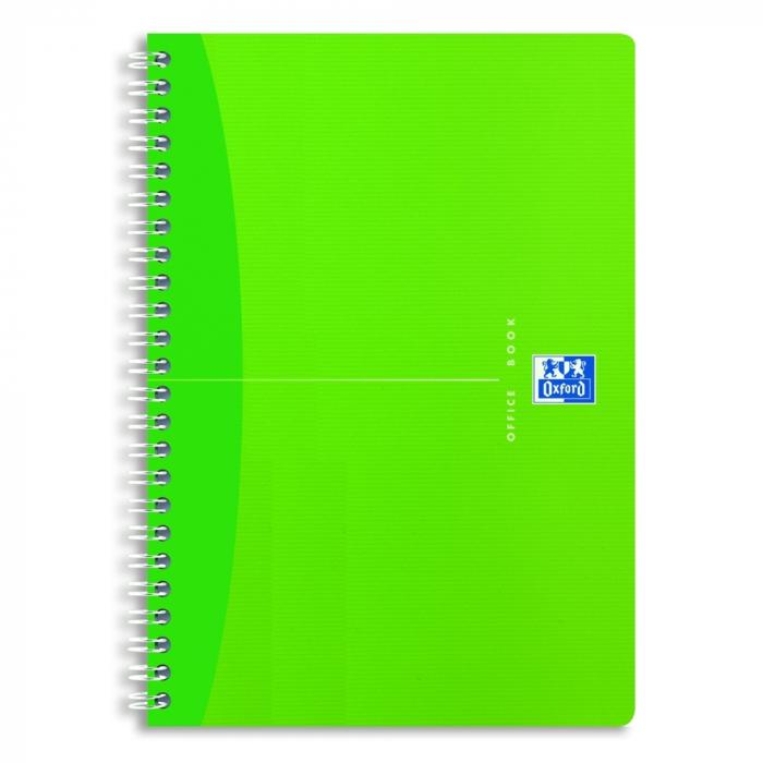 Caiet cu spirala A5, OXFORD Office MyColours, 90 file - 90g/mp, Scribzee, coperta PP - dictando [0]