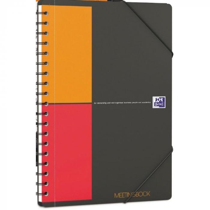 Caiet cu spirala B5, OXFORD Int. Meetingbook, 80 file -80g/mp, Scribzee, coperta PP - mate [0]