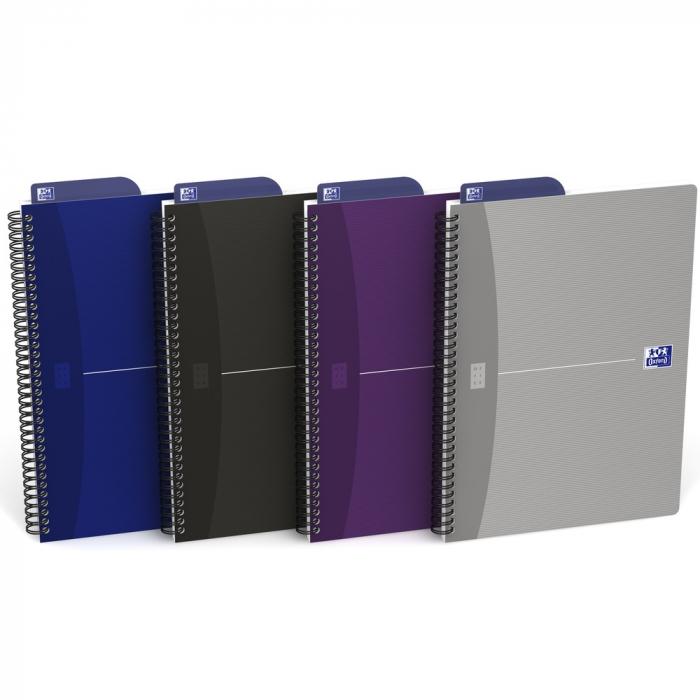 Caiet cu spirala B5, OXFORD Office Essentials, 90 file - 90g/mp, Scribzee, coperta carton - mate 0