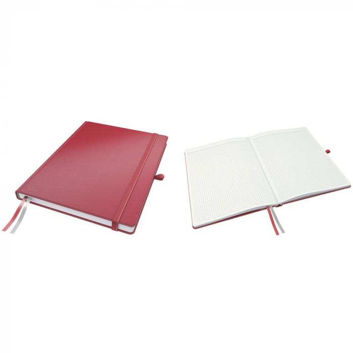 Caiet de birou LEITZ Complete, A4, matematica - rosu 0